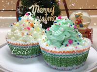 聖誕樹巧克力杯子蛋糕