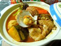 《可果美蕃茄鍋火鍋高湯》~南瓜扇貝鍋