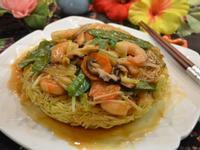 鮮蝦蔬菜兩面黃