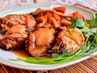 菇菇蘿蔔滷雞腿