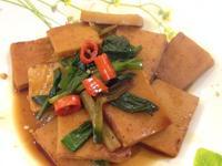 凱蘿簡易小料理~蔥燒百頁豆腐(全素)
