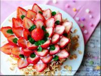 杏仁草莓蛋糕(戚風蛋糕)