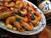 蔥爆蒜蝦。淬釀年菜料理