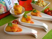黃金芙蓉雞蛋豆腐佐沙沙醬【可果美咖哩鍋高湯】