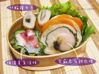 紫蘇昆布雞肉捲/梅漬章魚涼拌/竹輪鑲牛蒡