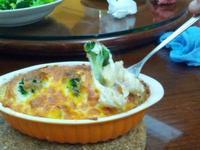 焗烤鮮蝦白醬義大利麵
