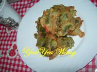 (蛋素)(剩菜變黃金)香煎芹葉時蔬菜
