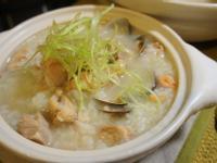 深夜食堂:蛤蠣雞腿砂鍋粥(蝦米爆香版)