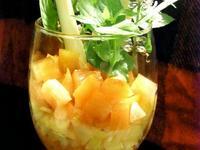 青蔬番茄洋蔥沙拉佐紅酒蜂蜜醬汁