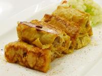 豆皮鮮肉卷(豆油伯缸底醬油食譜)