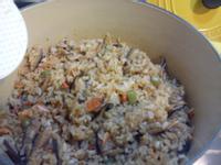 Le 鍋 四季豆鮭魚櫻花蝦炊飯