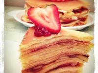 法式草莓香蕉千層蛋糕