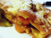 雜菜千層麵 Veggie Lasagna (剩餘的茄牛湯)