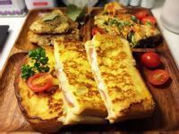 法式白醬起司火腿蛋三明治