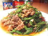 沙茶炸醬炒空心菜牛肉『牛頭牌端午好香拌』