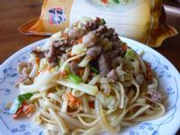 香腸炒麵『五木麵條』
