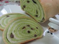 抹茶紅豆木材麵包