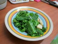 [小湯的美味食譜] 家裡做小魚乾快炒山蘇 Tefal炒鍋實作