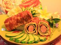 香腸豆皮卷【博客Q肉丁德國香腸】
