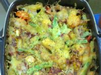 [氣炸鍋料理]焗烤海鮮蔬菜總匯
