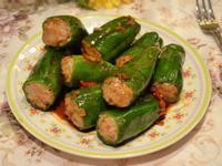 蒜汁青甜椒釀肉