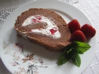 蛋糕1---巧克力草莓卷