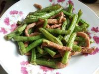 ♥ 長豆炒肉絲 (家常菜)