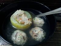 大黃瓜鑲肉湯