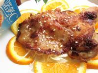 蜜汁橙香雞腿排