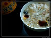 金針菇雙蛋十穀米鹹稀飯