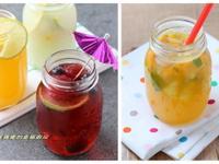 漂亮清涼又消暑的水果氣泡飲(三種口味)