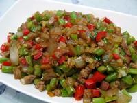 洋蔥肉末炒四季豆