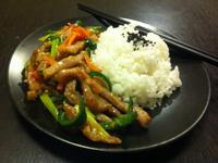 <快速料理-青椒肉絲燴飯>