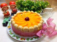 芒果夏洛特慕斯蛋糕
