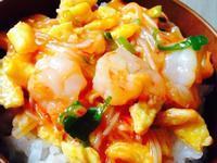 【空姐愛煮菜】黃金蝦仁雞蛋蓋飯