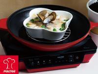【摩堤_鑄鐵鍋料理】日式蟹肉蛤蠣蒸蛋