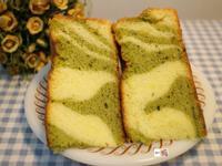 抹茶斑馬紋戚風蛋糕