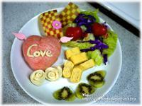 愛心饅頭早餐盤【VICI的懶人廚房】