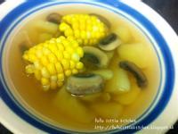 素湯 - 薯仔栗米磨菇湯