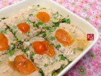 meat loaf 2☆生鹹蛋韭菜蒸肉餅