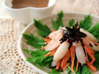 ✤ 蟹肉水菜佐香味芝麻醬 ✤