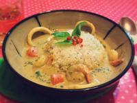 椰汁海鮮綠咖喱