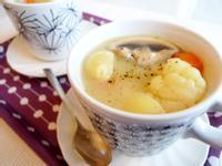 馬鈴薯花椰菜濃湯貝殼麵