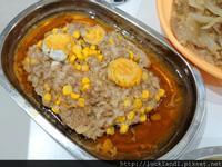 蛋黃玉米黑豬肉蒸肉餅