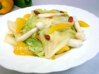 [廚房戰記]-高麗菜炒枸杞菇