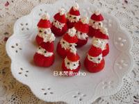 日本閒妻miho超簡單草莓聖誕老公公點心