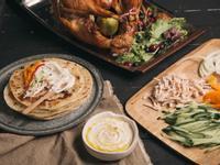 希臘風火雞肉蔬菜優格烤餅