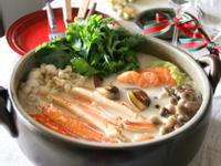 蝦蟹味噌真安心牛奶鍋