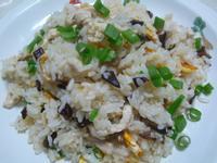 lanni    麻油雞絲蛋炒飯