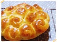 蜂蜜煉奶花園麵包(直接法)[鷹牌煉奶]